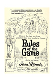 THE RULES OF THE GAME  (aka LA REGLE DU JEU)  US re-release poster art  1939