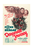 DESPERATE JOURNEY  top right from left: Errol Flynn  Nancy Coleman  1942