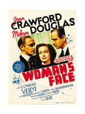 A WOMAN'S FACE  from left: Conrad Veidt  Joan Crawford  Melvyn Douglas on midget window card  1941