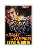 ON ANY SUNDAY  (aka IL RALLY DEI CAMPIONI)  Italian poster  Steve McQueen  1971