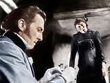 THE CURSE OF FRANKENSTEIN  from left: Peter Cushing  Christopher Lee  1957