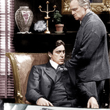 THE GODFATHER  from left: Al Pacino  Marlon Brando  1972