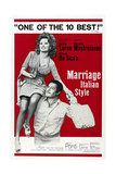 MARRIAGE ITALIAN STYLE  US poster  Sophia Loren  Marcello Mastroianni  1964