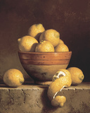 Lemons in a Bowl with Peel