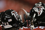 Falcons Football: Atlanta Falcons Huddle