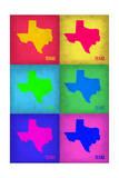 Texas Pop Art Map 1