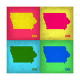 Iowa Pop Art Map 1