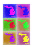 Michigan Pop Art Map 2