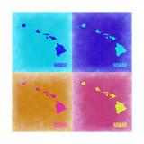 Hawaii Pop Art Map 2