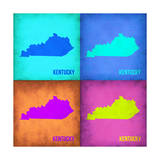 Kentucky Pop Art Map 1