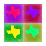 Texas Pop Art Map 2