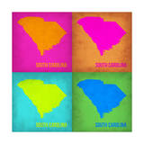South Carolina Pop Art Map 1