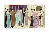 Women in Party Dresses And Man in Tuxedo Playing the Piano From Art  Gout  Beaute 1923