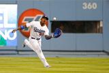 Oct 07  2013 - LA  CA: National League Division Series Game 4- Braves v Dodgers - Yasiel Puig  etc