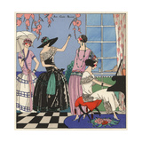 Party Scene with Women in Elegant Evening Wear From Art  Gout  Beaute 1923