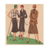 Fashionable Parisian Women Playing Golf From Art  Gout  Beaute  1930