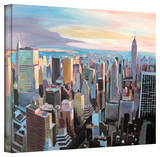 'New York City Skyline in Sunlight' Gallery-Wrapped Canvas