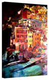 'Magic Cinque Terre Night Riomaggiore' Gallery-Wrapped Canvas