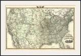 New Railroad Map of the United States and Dominion of Canada  c1876