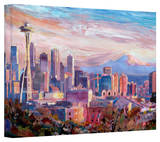 'Seattle Skyline with Space Needle' Gallery-Wrapped Canvas