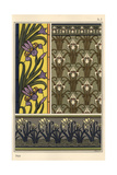 The Iris in Various Patterns for Stained Glass  Wallpaper And Fabrics