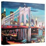 'New York City - Manhatten Bridge' Gallery-Wrapped Canvas