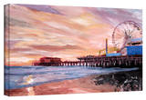 'Santa Monica Pier at Dusk' Gallery-Wrapped Canvas