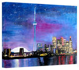 'Toronto Skyline at Night' Gallery-Wrapped Canvas