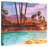 'The Palm Springs Pool' Gallery-Wrapped Canvas