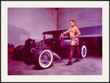 Pin-Up Girl: Flat Head Rat Rod