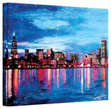 'Chicago Skyline at Dusk' Gallery-Wrapped Canvas