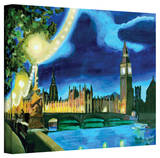 'London Big Ben and Parliament with Thames' Gallery-Wrapped Canvas