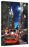 'New York Chrysler Building Street Scene' Gallery-Wrapped Canvas