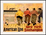 American Line  New York to Southampton