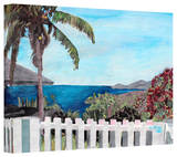 'English Harbour Antigua Ocean View' Gallery-Wrapped Canvas