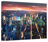 'New York City - the Empire State Building at Night' Gallery-Wrapped Canvas