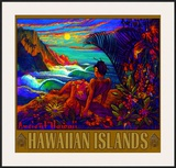 Hawaii Napali Kauai Coast Surf Poster