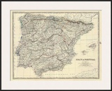 Spain  Portugal  c1861