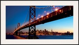 San Francisco Skyline and Bay Bridge at Sunset-California