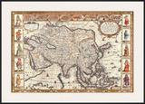 Antique Map  Asia  1626