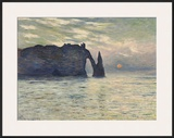 The Cliff  Etretat  Sunset  1883
