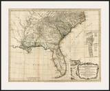 General Map of the Southern British Colonies  in America  c1776