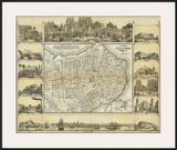 Plano Pintoresco de La Habana  c1853