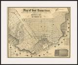 Map of San Francisco  c1852