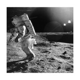 Apollo 12 Astronaut on the Moon