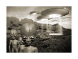 Alien Contact In the 1940s  Artwork