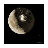 Luna 1 Spacecraft At the Moon  1959