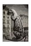 1886 Flammarion's Iguanodon Dinosaur
