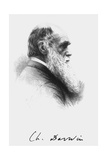 Portrait of English Naturalist Charles Darwin