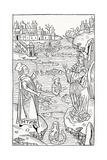 15th Century German Woodcut Print